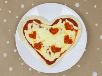 V is for Very Valentine-y Pizza