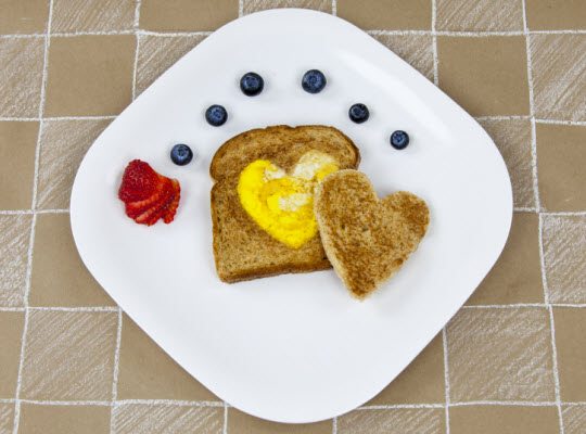 Snacks for letter H - Have a Heart breakfast
