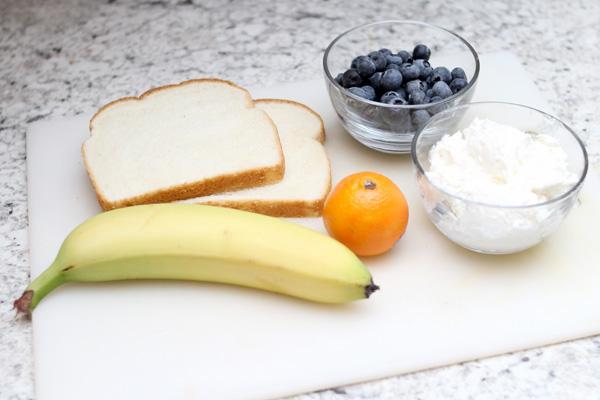 Ingredients for polar bear ABC snack