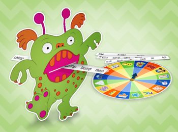 feed the monster game and activity spinner
