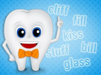 a tooth looking at words with double consonants f, l, and s