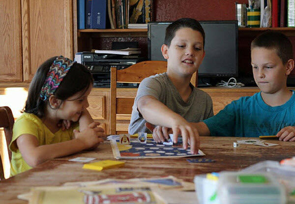 children playing game together