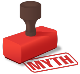 Red 'myth' stamp