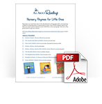 Nursery Rhymes for Littles Ones library list checklist download