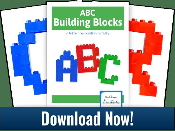 ABC Building Blocks activity download 3-page spread
