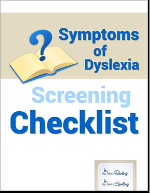 Symptoms of Dyslexia Screening Checklist cover
