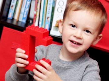 Creating the Alphabet with Building Blocks - a letter recognition activity for preschoolers from All About Reading