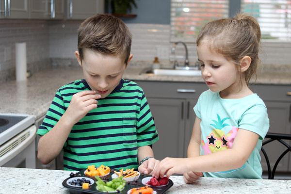 Children enjoying snack