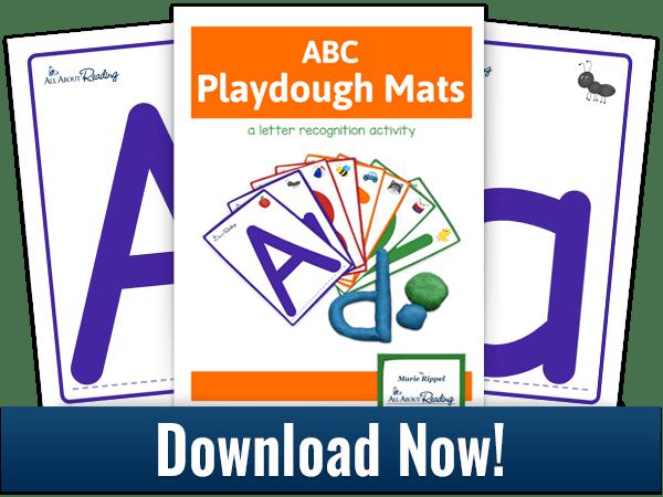 ABC Playdough Mats activity download three-page spread