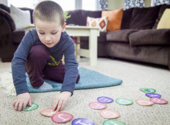 ABC Caterpillar - a letter recognition activity for preschoolers from All About Reading