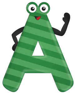 Friendly letter A