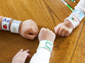ABC Bracelets - a letter recognition activity for preschoolers from All About Reading