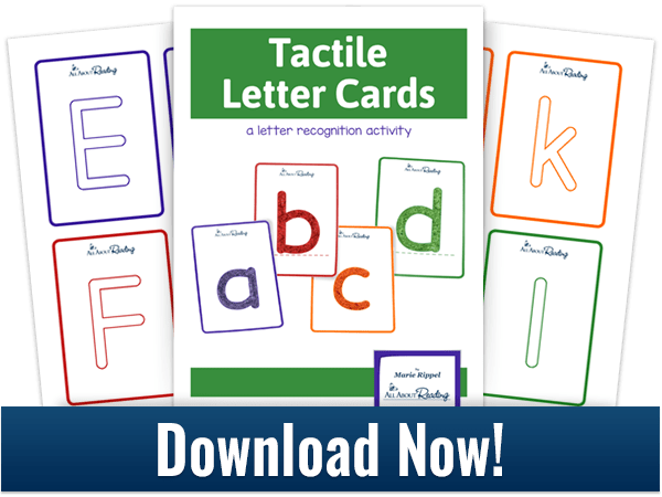 Tactile Letter Cards activity download 3-page spread