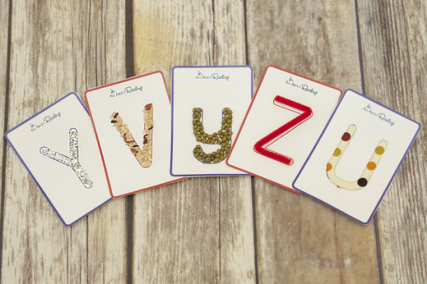 Variations of tactile letter cards
