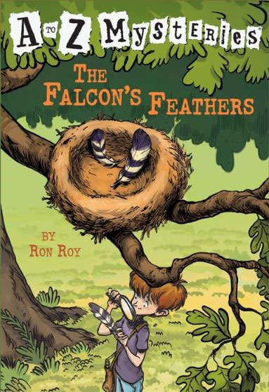 A to Z Mysteries: The Falcon's Feathers book cover