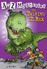 A to Z Mysteries: The Talking T. Rex book cover