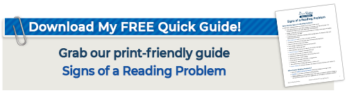 Signs of a reading problem quick guide graphic