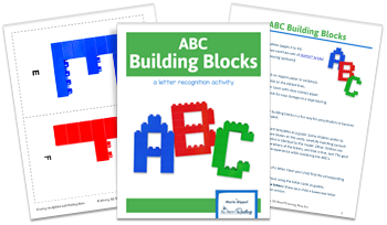 3-page spread of ABC Building Blocks activity download