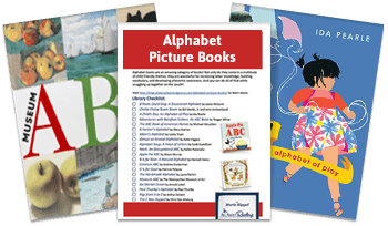 Alphabet Picture books library list 3-page spread