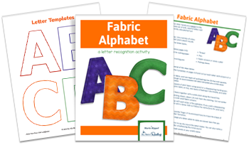 3- page spread of Fabric Alphabet download
