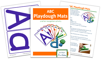 3-page spread of ABC Playdough Mats activity download