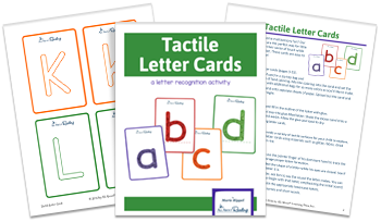 3-page spread of Tactile Letter Cards Activity download