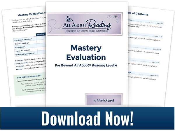 downloadable mastery evaluation