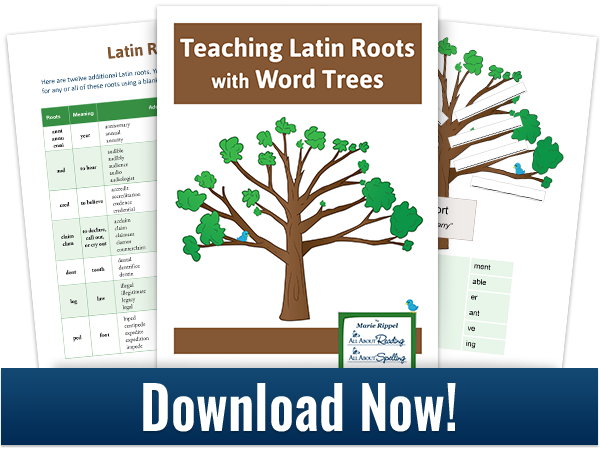 Download for Teaching Latin Roots with Word Trees