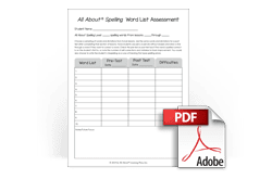 All About Spelling Word List Assessment Download