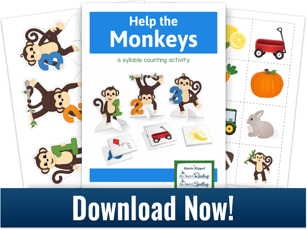 Download this fun syllable counting activity