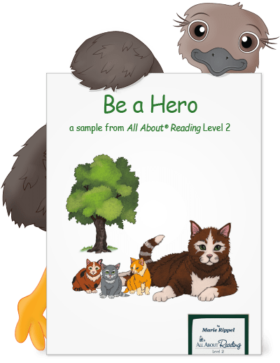 Cute emu holding a preview of Be a Hero