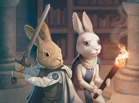 Sword-wielding rabbits fight enemies in The Green Ember