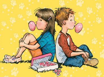 Book cover showing Henry and Beezus sitting blowing bubbles.