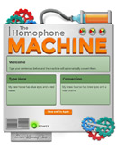 Click to play with our fun homophone machine