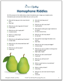 Free Homophone Riddles and Puns - download yours now