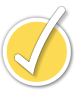 Print awareness yellow check mark