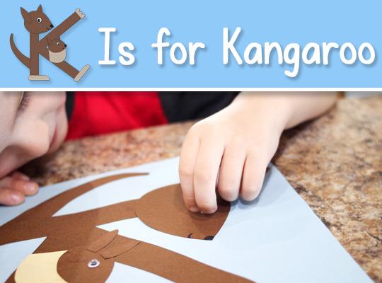 K Is for Kangaroo ABC Craft