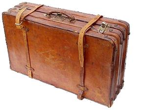 a portmanteau or large suitecase
