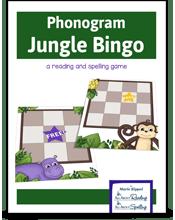 Phonogram Jungle Bingo Game