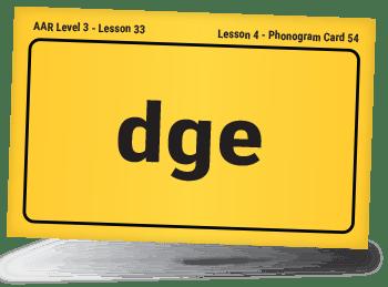 front of DGE phonogram card