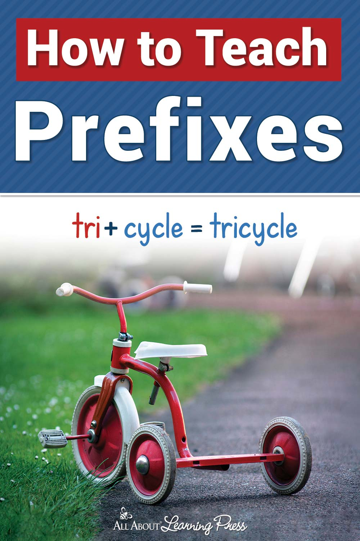 how to teach prefixes pinterest graphic