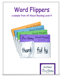 Suffix Word Flippers activity cover
