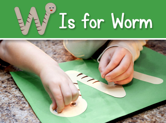 W Is for Worm title graphic