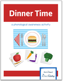 teach rhyming with Dinner Time rhyming game
