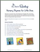 teach rhyming with nursery rhymes