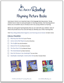 teach rhyming with rhyming picture books