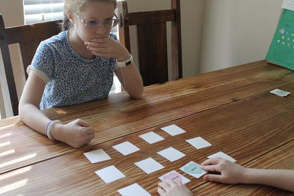 children playing rhyming activity