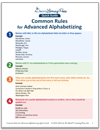 Common Rules for Advanced Alphabetizing