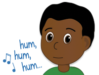 boy humming to count syllables