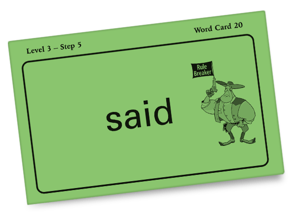 All About Spelling Word Card - SAID
